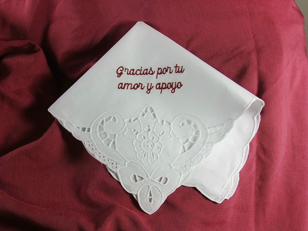 Ladies Cotton Handkerchief with Cutwork Detail