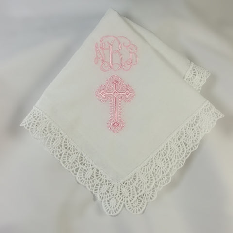 Girl Baptism Handkerchief