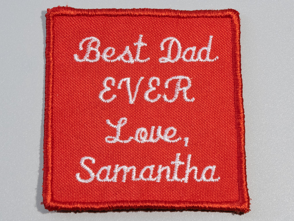 custom gift for dad, personalized tie label patch
