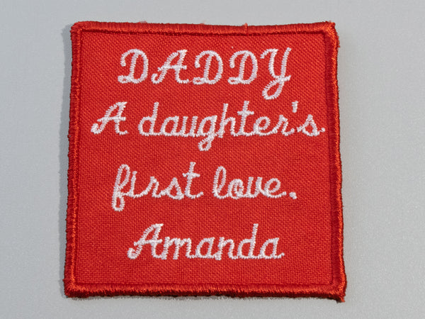 daddy gift custom embroidered tie patch label