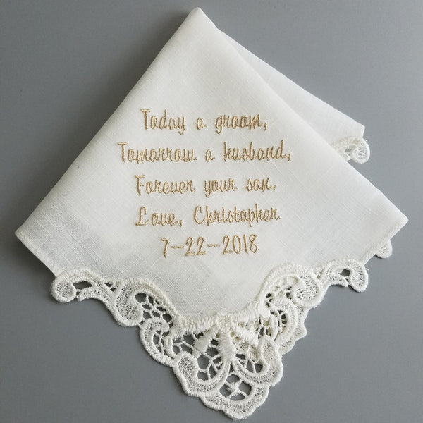 handkerchief for mother of the groom