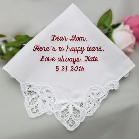 Embroidered Cotton Lace Handkerchief