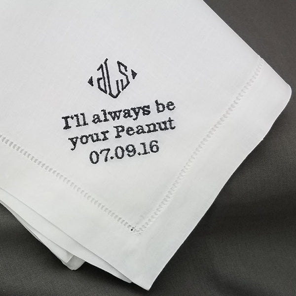 father of the bride handkerchief men's handkerchief