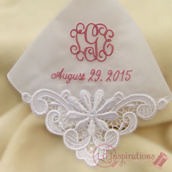Ladies Embroidered Handkerchief Cotton