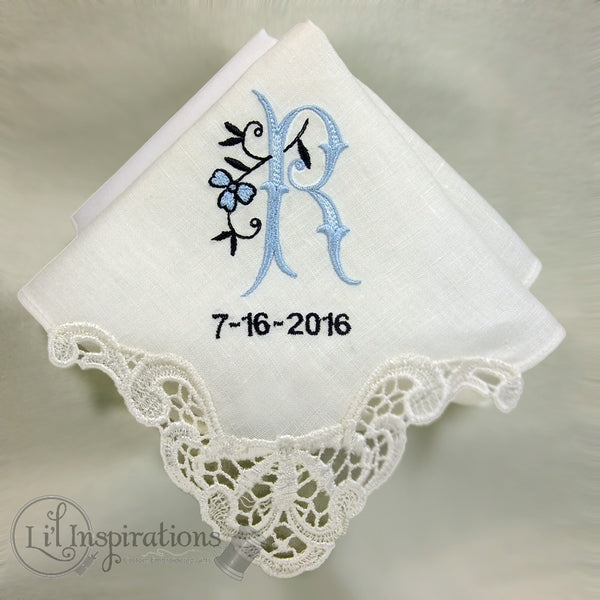 Ladies Ivory Cotton Lace Handkerchief