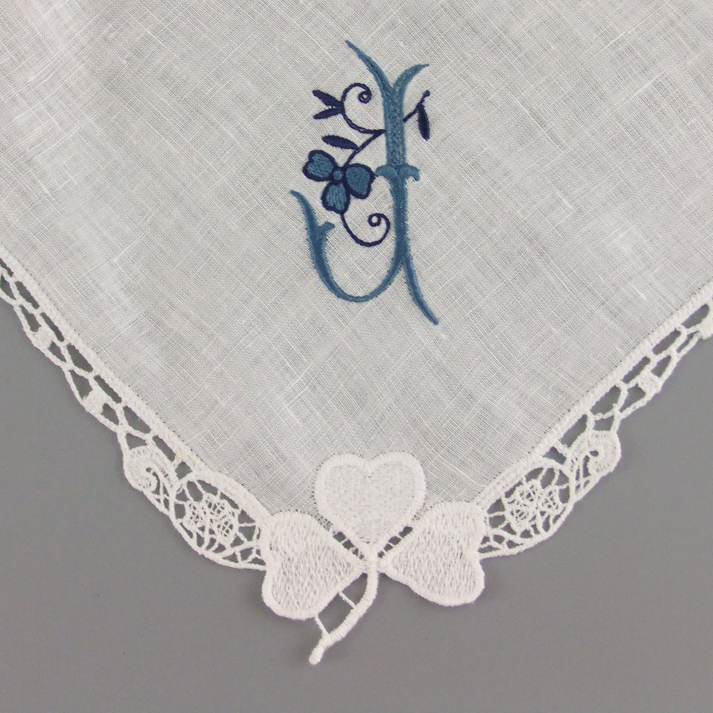 ireland wedding gift ivory linen handkerchief for daughter