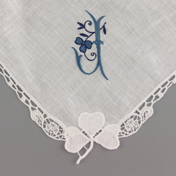 wedding handkerchief personalized linen hanky