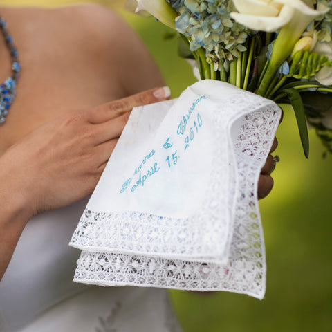 Hand Drawnwork Ladies Lace Handkerchief