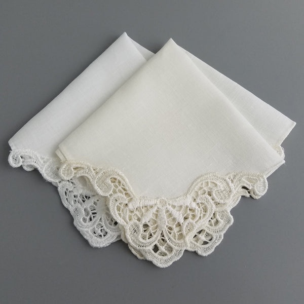Ivory Wedding Handkerchief