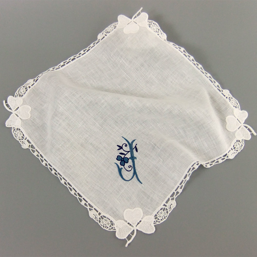 Irish wedding gift for mom from daughter linen handkerchief