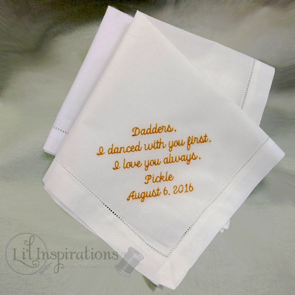 Ivory Cotton Mans Handkerchief Personalized