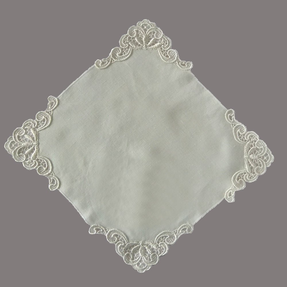 ivory wedding hankerchief