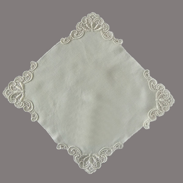 ivory cotton handkerchief