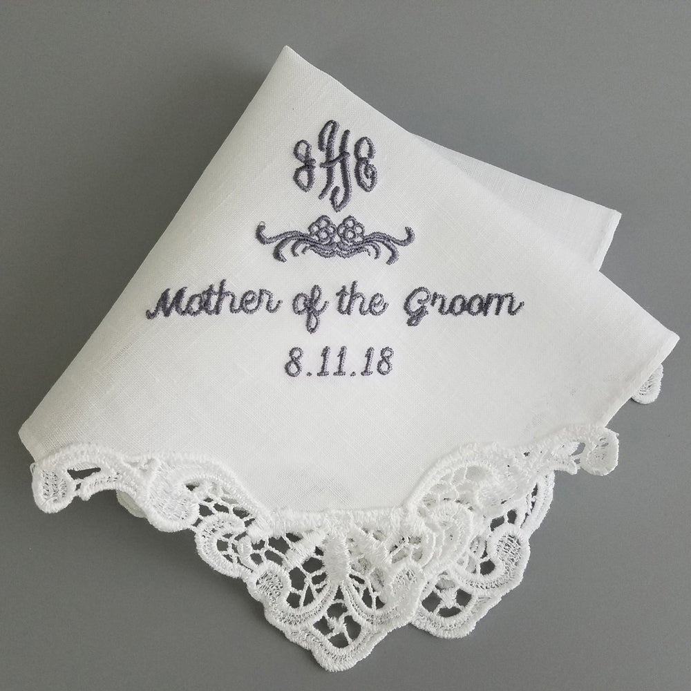 white linen handkerchief for women