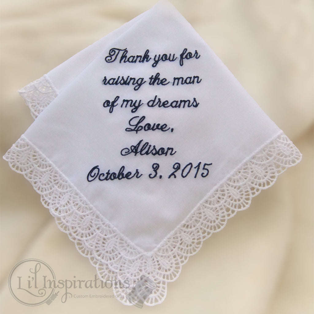 bridal handkerchief custom made wedding hanky