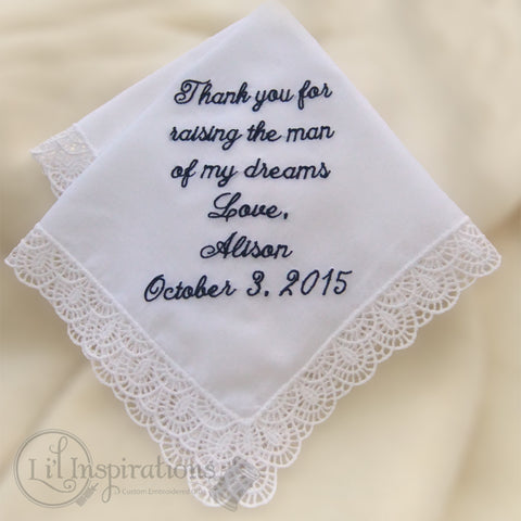 Soft Cotton Lace Border Handkerchief