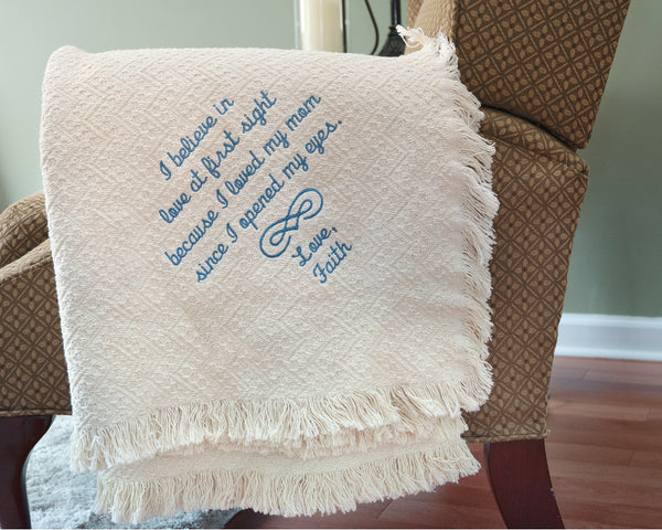 Gift For Mom From Daughter or Son Personalized Blanket