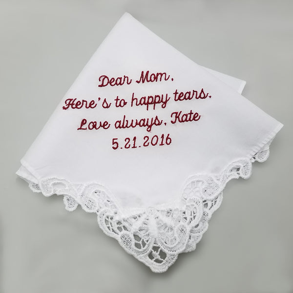 personalized wedding hanky