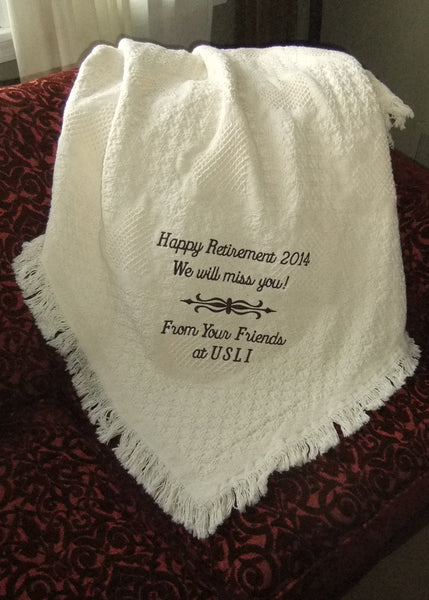 Personalized Retirement Gift Custom Blanket