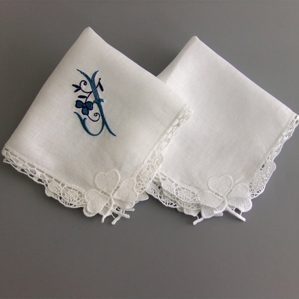 bridal hanky for daughter on wedding day lace handkerchief