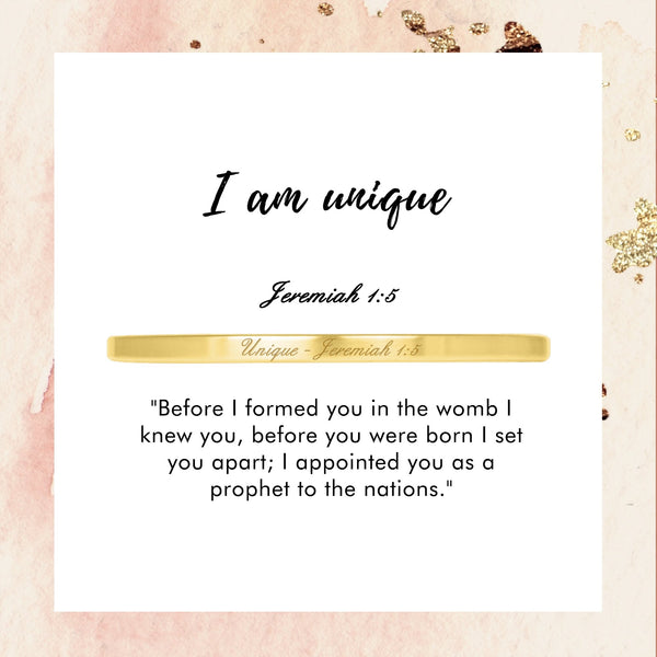 Unique - Jeremiah 1:5 - Today & Me
