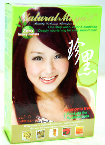 Red Chestnut Natural Mi Ya Hair Coloring, 3 Applications! 栗子紅植物染髮