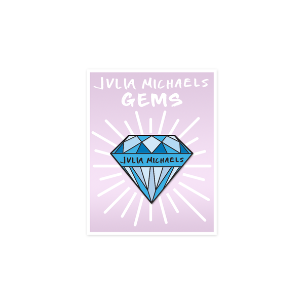 GEM ENAMEL PIN