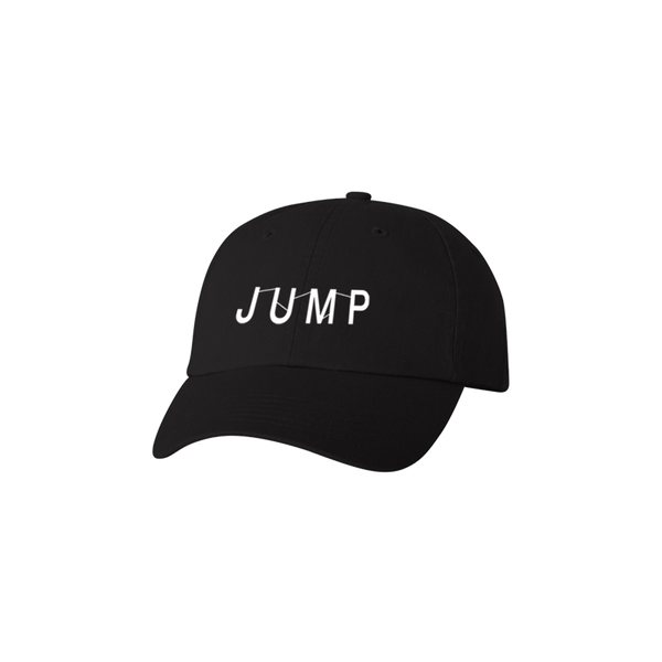JUMP LOGO EMBROIDERED BLACK DAD HAT