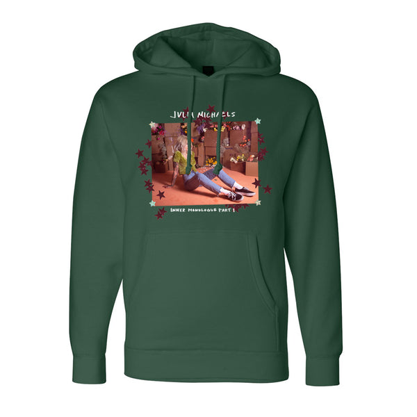 INNER MONOLOGUE GREEN PULLOVER HOODIE