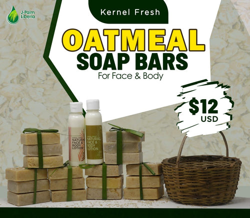 Oatmeal Soaps and Lotions Basket