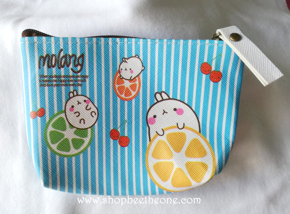 Porte-monnaie kawaii Molang et fruits