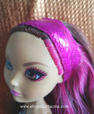 Bandeau de tête brillant pour poupées Monster High (ou Ever After High) - 3 coloris - Collection Glitter Party - Marque Zambara