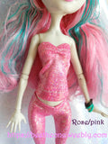 Bustier Sirène imprimé holographique pour poupées Monster High, Ever After High ou Winx Club (Mattel) - 11 coloris - Collection Basics - Marque Zambara
