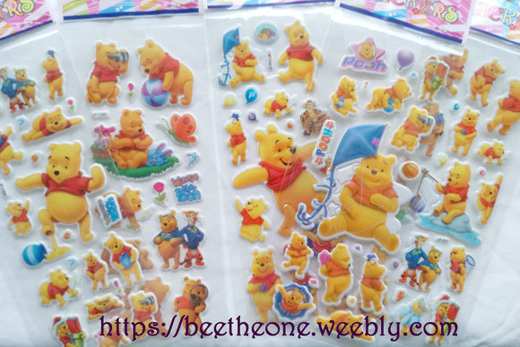 Planche de stickers Disney Winnie l'Ourson - 5 modèles