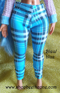 Pantalon collant leggings long motif tartan pour poupées L.O.L Surprise! O.M.G - 2 coloris - Exclusivité Bee the One - Collection Basics - Marque Zambara