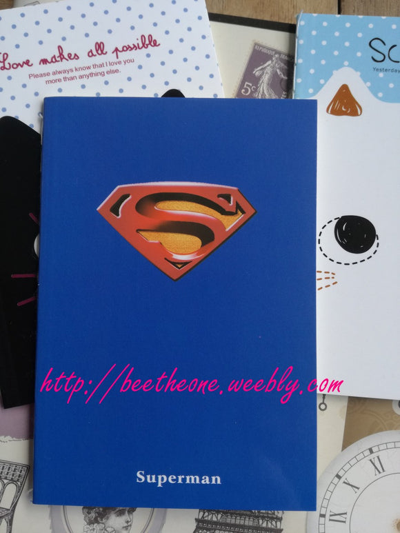 Carnet - Notebook fin Super-héros - Superman ou Transformers Autobots