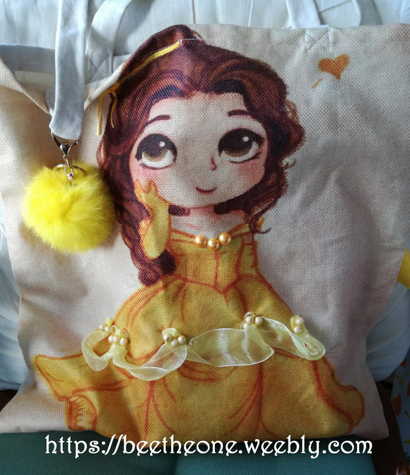 Tote bag Sac de courses Disney Princesses Belle - Marque Zambara