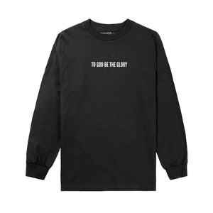 To God Be L/S Tee in Black