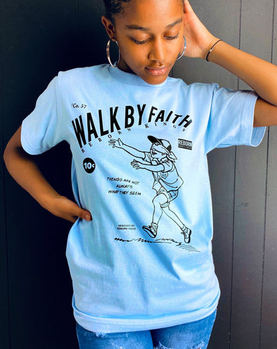 By Faith Tee in Light Blue