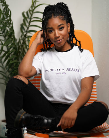 Not Me Tee in White