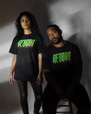 Reborn Retro Tee in Black