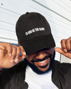 To God Be Dad Hat in Black