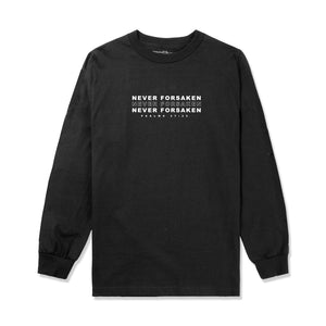 Never Forsaken L/S Tee in Black