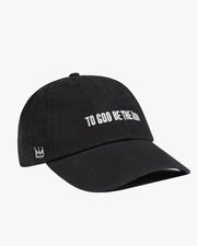 To God Be Dad Hat in Black (Embroidered)