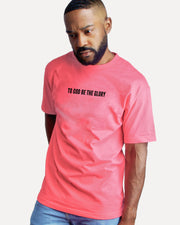 To God Be Tee in Coral