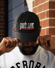 God's Love Hat in Black (Embroidered)