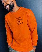 Load image into Gallery viewer, Life Without God L/S Tee in Orange