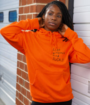 Life Without God Hoodie in Orange