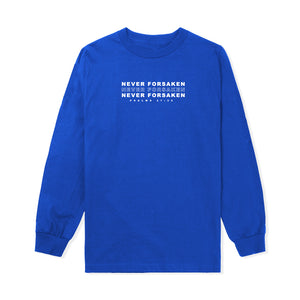Never Forsaken L/S Tee in Blue
