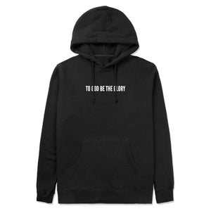 To God Be Hoodie in Black
